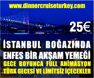 İstanbul Boğazı Yemekli Eğlenceli Gece Turu
