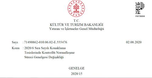 Kültür ve Turizm Bakanlığı'ndan yeni Covid 19 Genelgesi