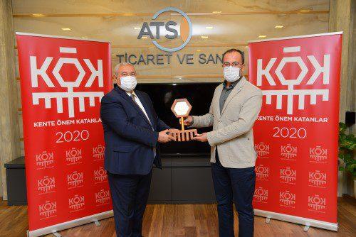 ATSO'nun Çevre ödülü Çağlar İnce'ye