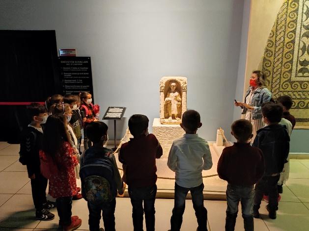 Gaziantepli çocuklar ilk kez Zeugma Mozaik Müzesi'ndeler…