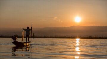 İnle Gölü, Myanmar