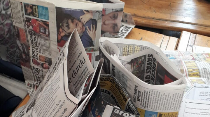Kese Kağıdı= Un+ Su+ Eski Gazete
